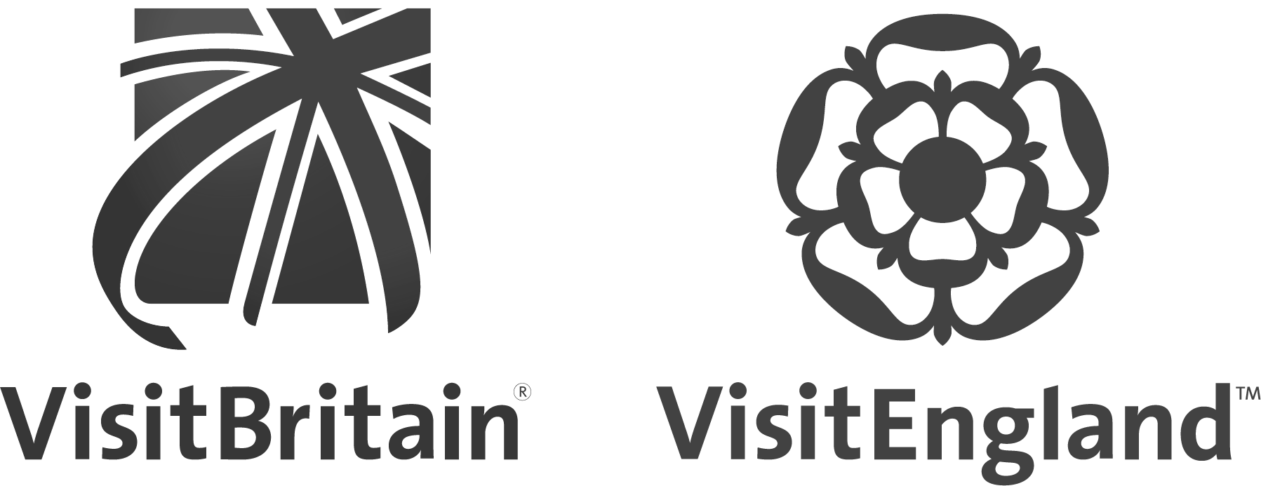 Visit Britain and Visit England logos black and white